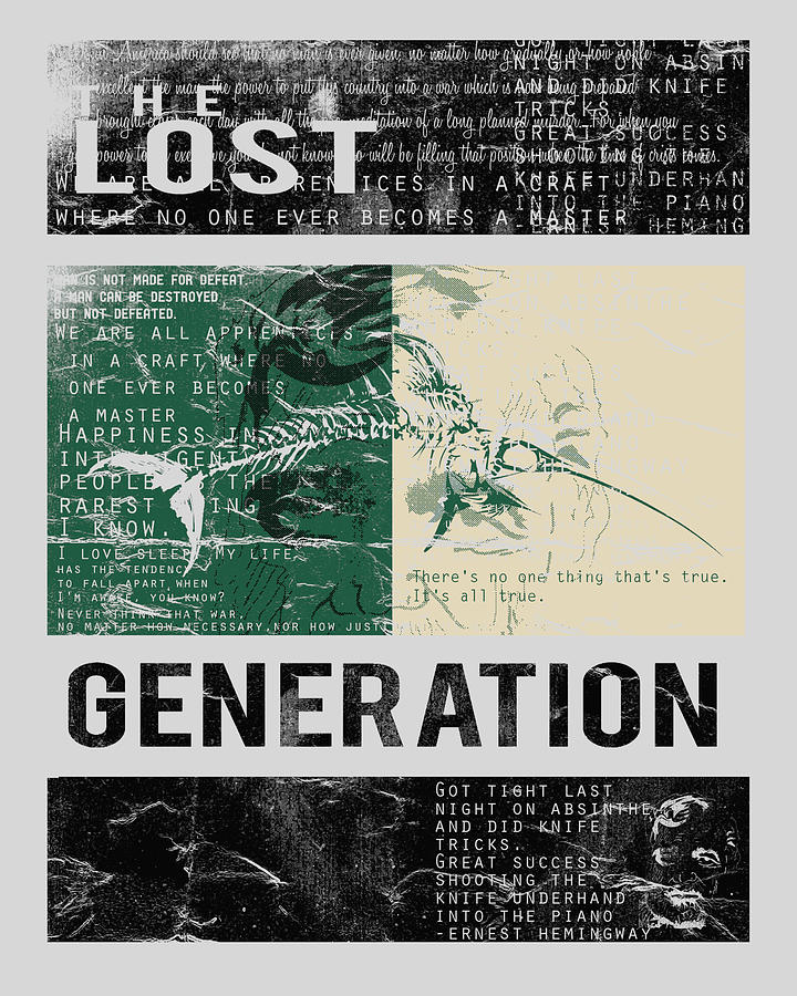 lost generation writers As depicted by a group of renowned writers, the 'lost generation' became  the  lost generation and the writers who described their world.