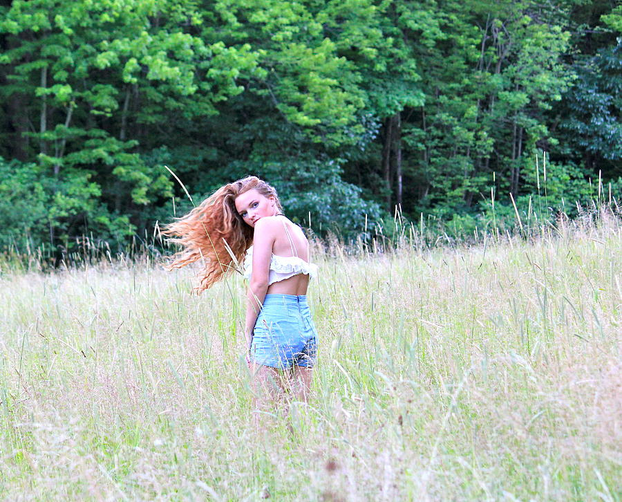 Feild Photograph - Lost In A Feild by Amanda Just
