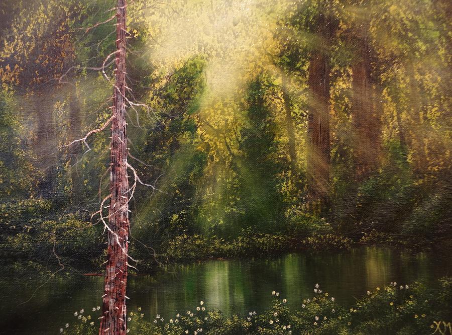 Xochi Hughes Madera Painting - Lost In Thought by Xochi Hughes Madera