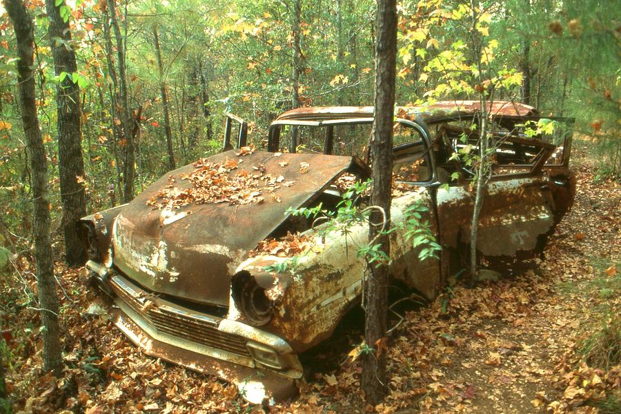 Lost In Time - Old Car Wreck Photograph  - Lost In Time - Old Car Wreck Fine Art Print