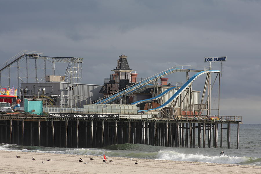 Casino Pier  Photograph - Lost To Sandy by Laura Wroblewski