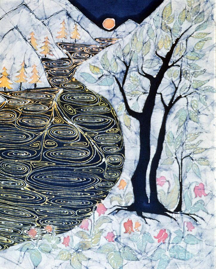 Lothlorien Tapestry - Textile - Lothlorien  by Carol Law Conklin