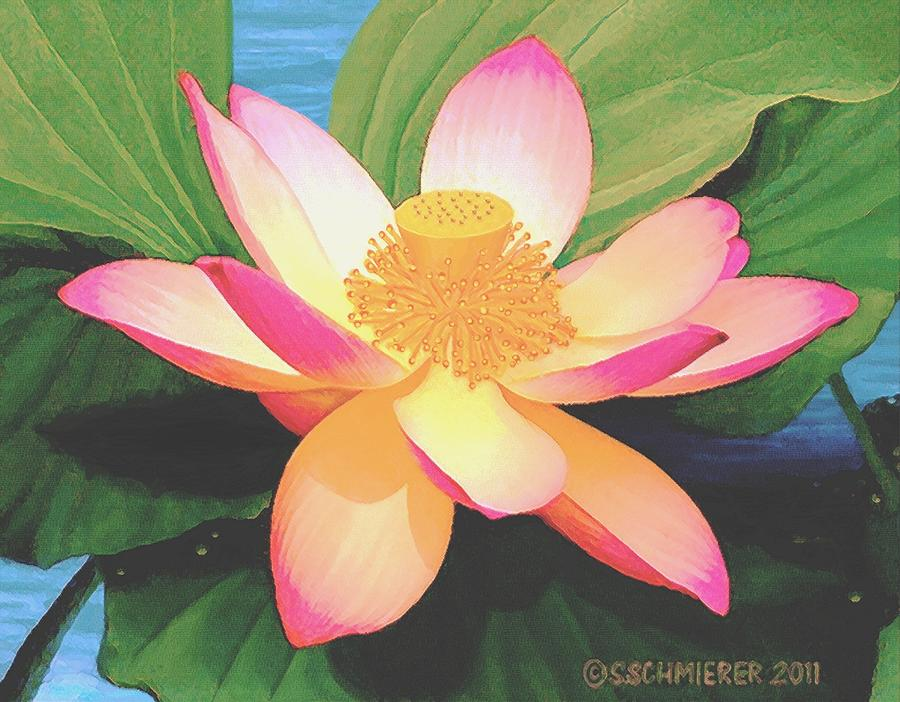 Lotus Flower Painting