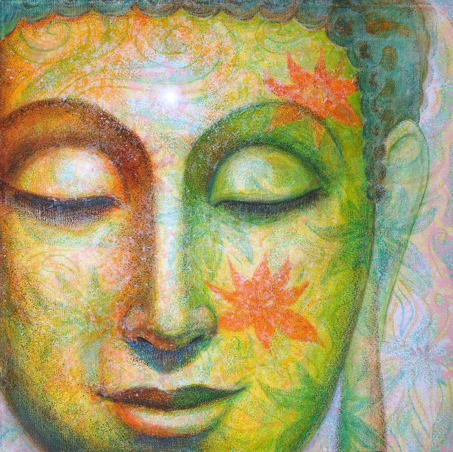 Lotus Meditation Buddha Painting by Sue Halstenberg