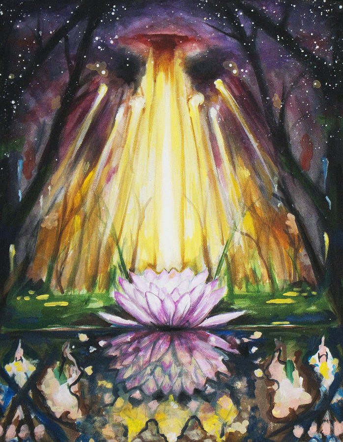 Psychedlic Painting - Lotus Omega by Christine  Webb
