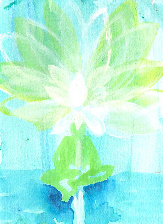 Lotus Flower Painting - Lotus Petals Awakening Spirit by Ashleigh Dyan Bayer