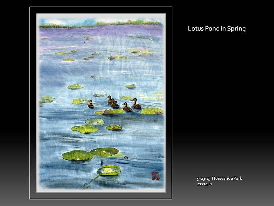 Lotus Pound In Spring Painting