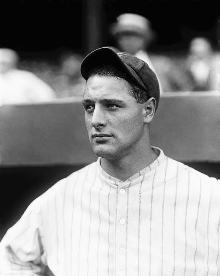 Lou Gehrig Looking Away Photograph