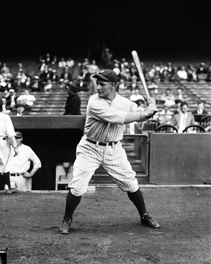 Lou Gehrig Stance Photograph