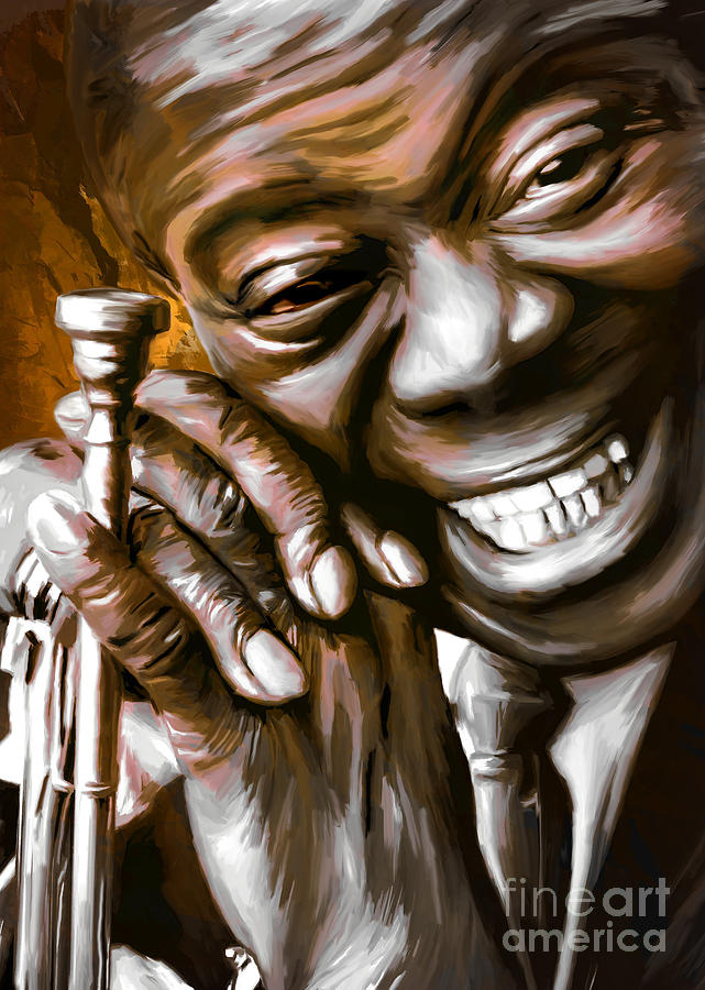Louis Armstrong Painting