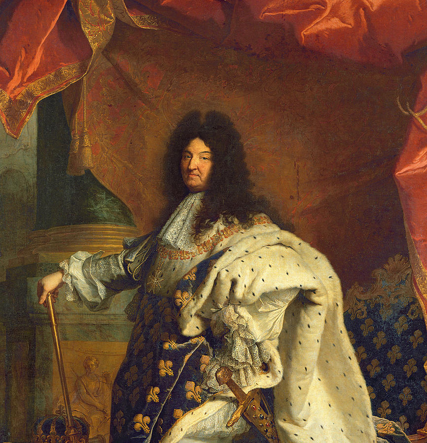 louis xiv in royal costume 1701 oil on canvas detail of 59867 photograph by hyacinthe francois. Black Bedroom Furniture Sets. Home Design Ideas