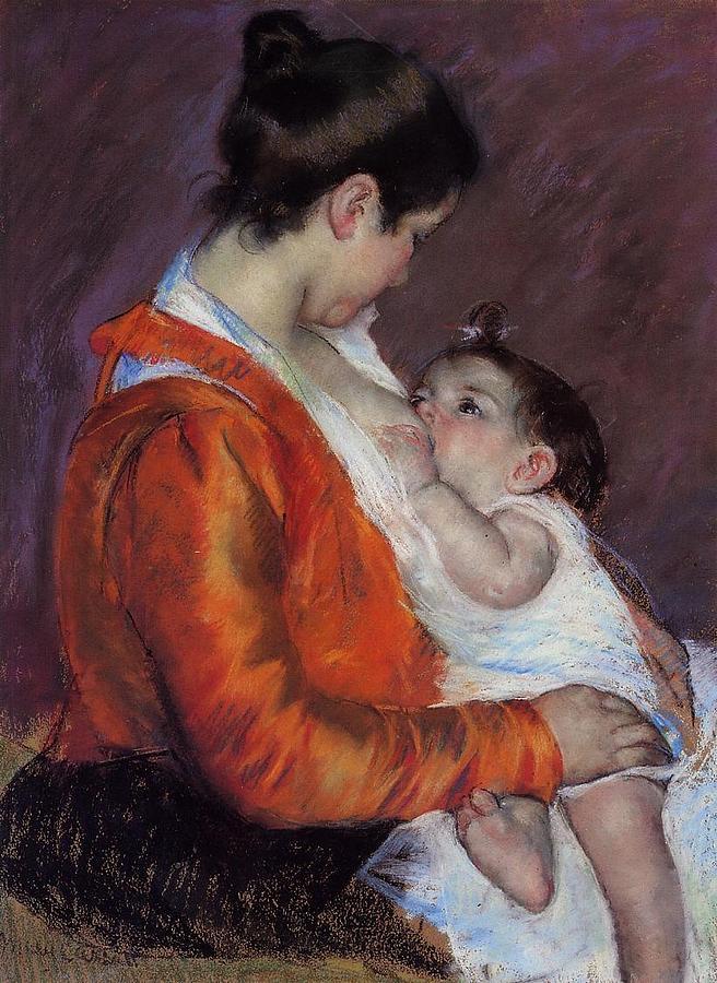 Louise Nursing Her Child Digital Art