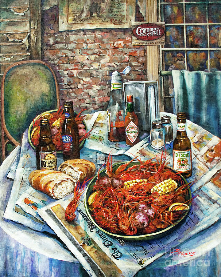 Louisiana Saturday Night Painting  - Louisiana Saturday Night Fine Art Print