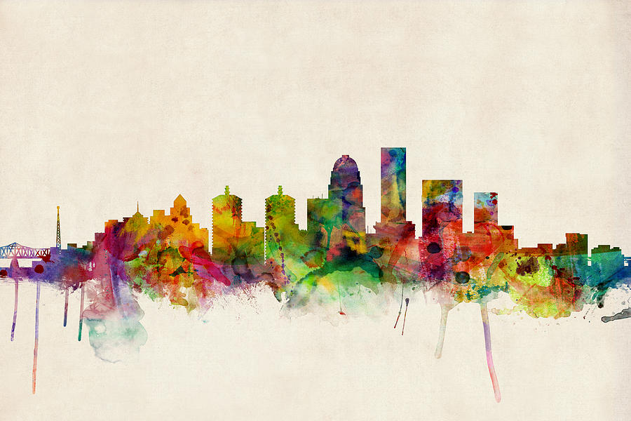 Louisville Kentucky City Skyline Digital Art