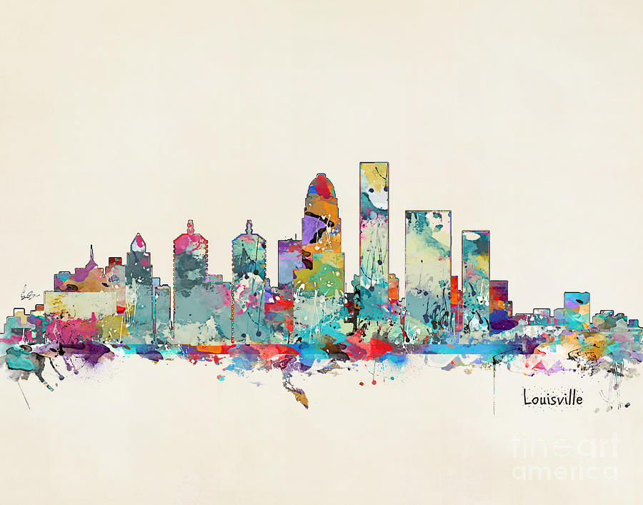 louisville kentucky skyline painting by bri b