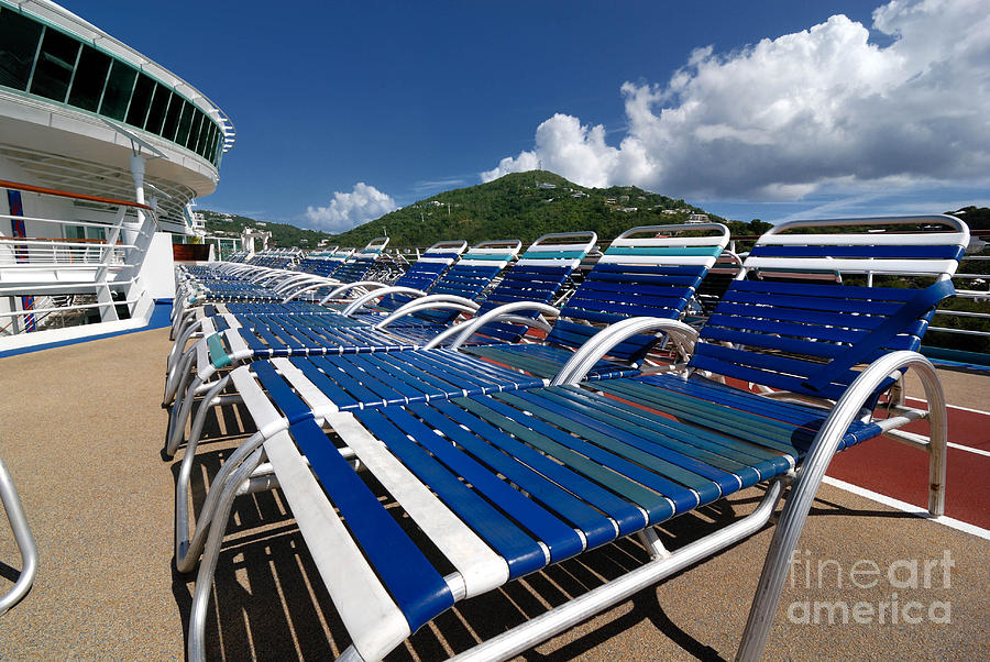 Lounge Chairs Adventure Of The Seas Photograph  - Lounge Chairs Adventure Of The Seas Fine Art Print
