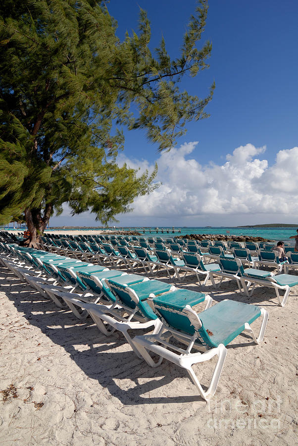 Lounge Chairs On The Beach Photograph