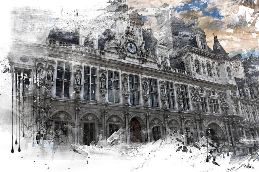 Louvre In A Splash Photograph