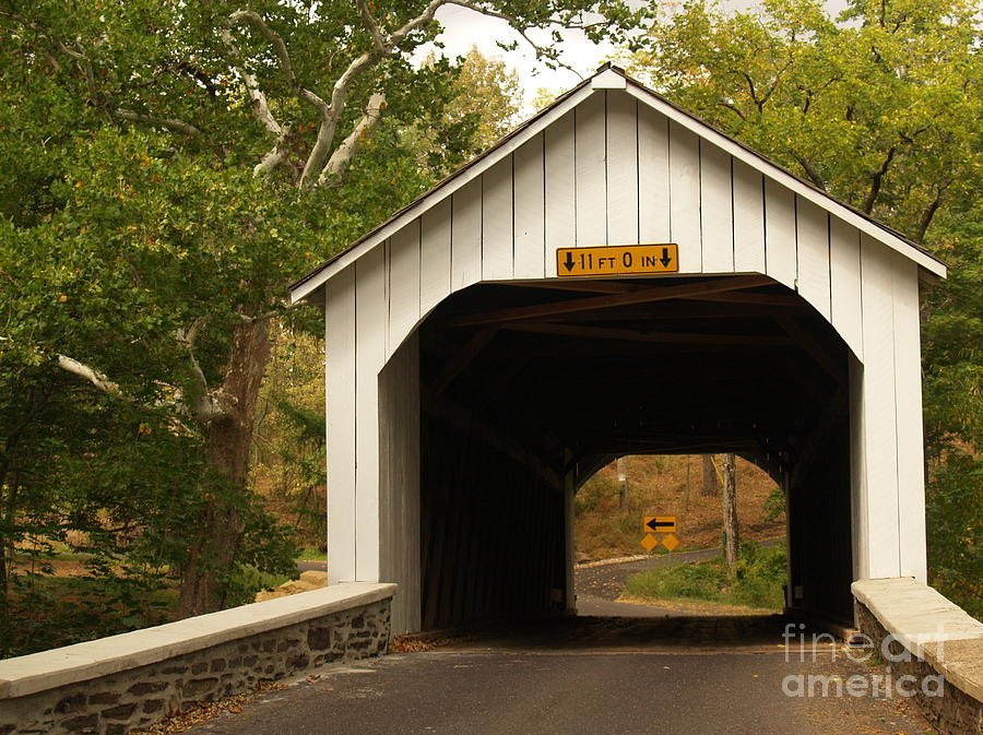 Loux Bridge And Sharp Left - Bucks County  Photograph  - Loux Bridge And Sharp Left - Bucks County  Fine Art Print