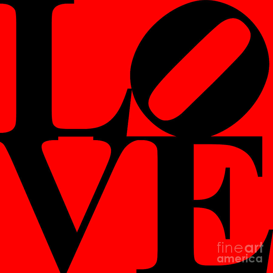 Love 20130707 Black Red Digital Art