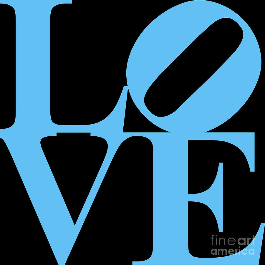 Love 20130707 Blue Black Digital Art