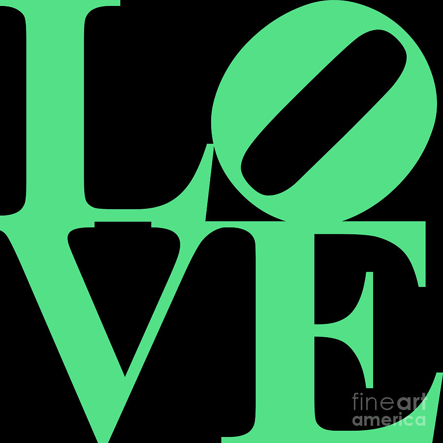 Love 20130707 Green Black Digital Art