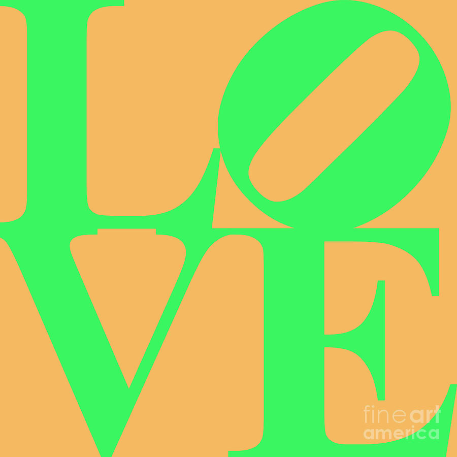 Love 20130707 Green Orange Digital Art  - Love 20130707 Green Orange Fine Art Print