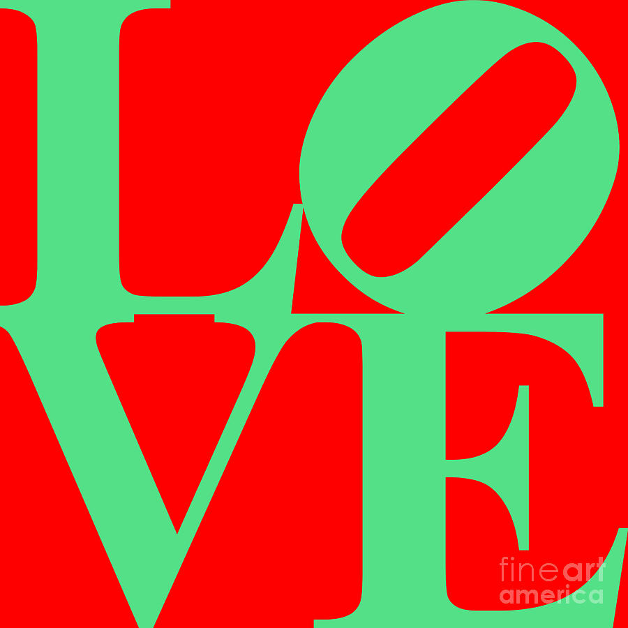 Love 20130707 Green Red Digital Art  - Love 20130707 Green Red Fine Art Print