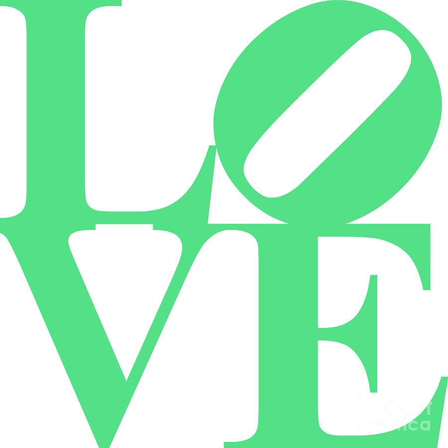 Love 20130707 Green White Digital Art