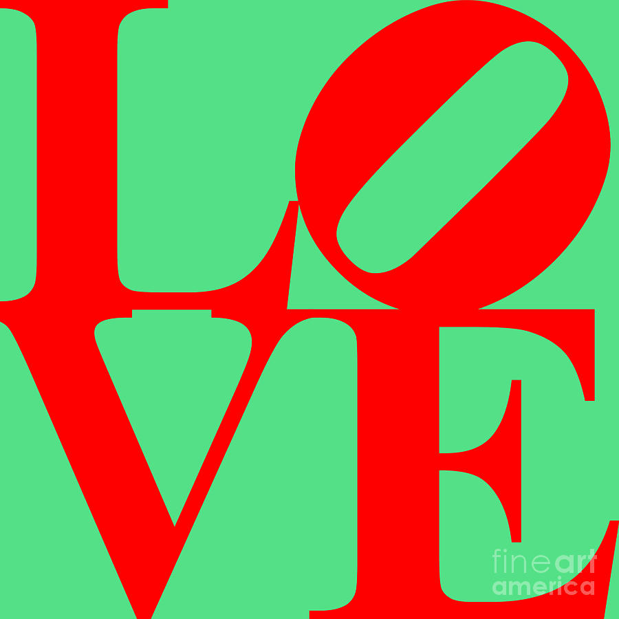Love 20130707 Red Green Digital Art  - Love 20130707 Red Green Fine Art Print