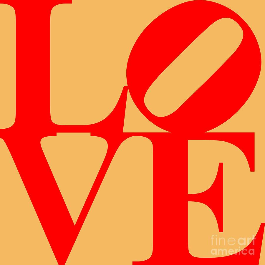 Love 20130707 Red Orange Digital Art