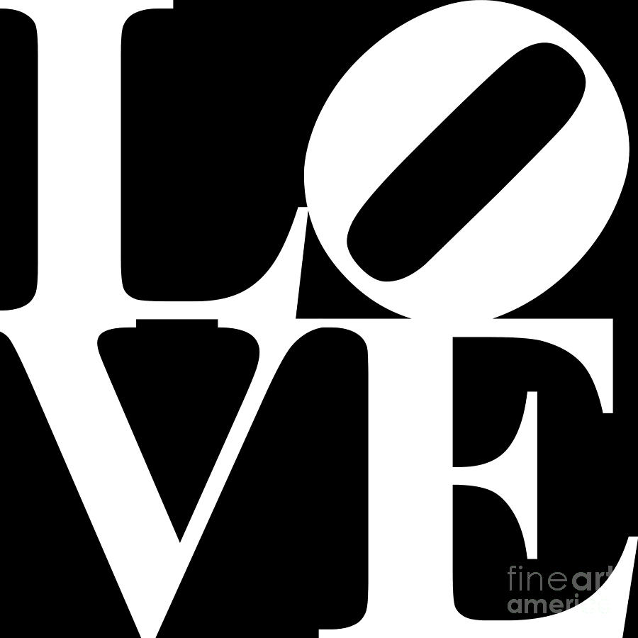 Love 20130707 White Black Digital Art  - Love 20130707 White Black Fine Art Print