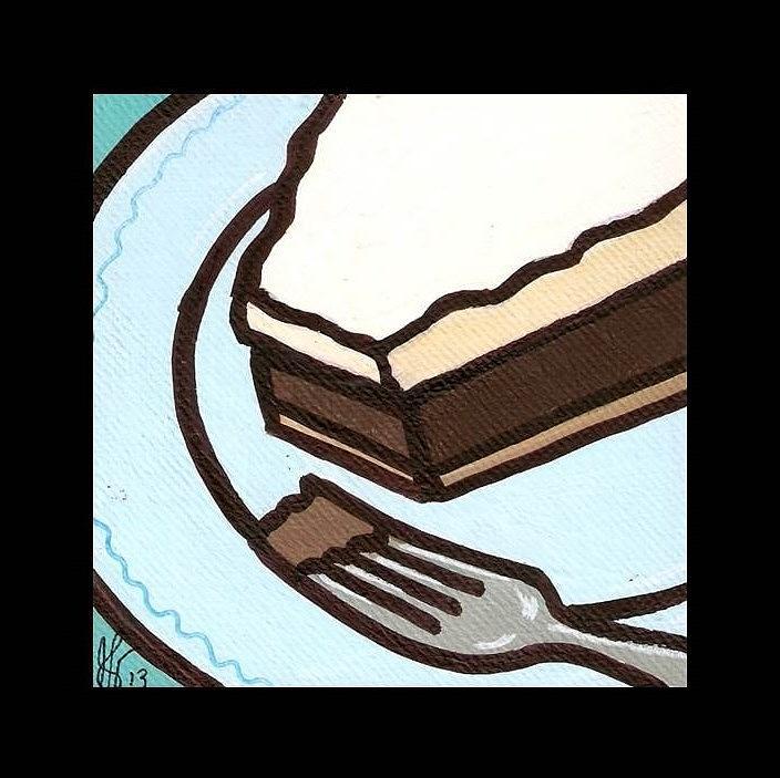Love At First Bite Chocolate Cream Pie Painting
