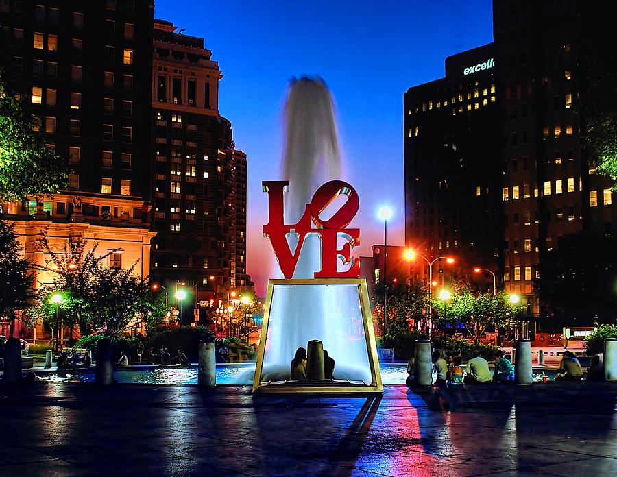 America Photograph - Love At Night by Nick Zelinsky