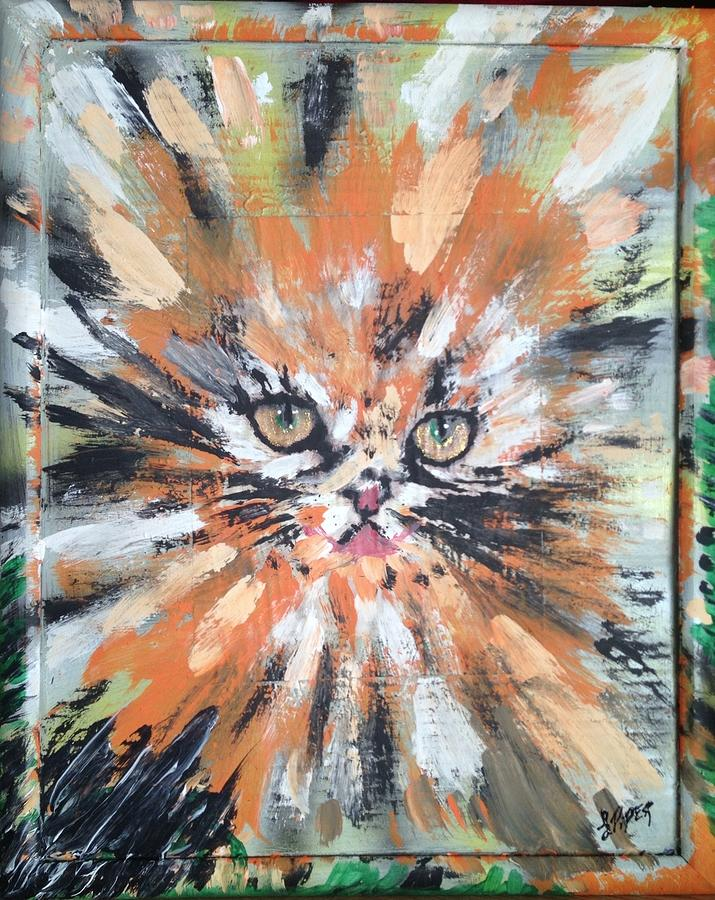 Abyssinian Cat Painting - Love For Cats by Lisa Piper Menkin Stegeman