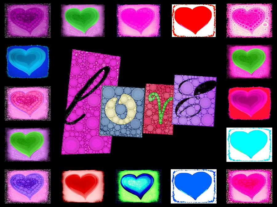 Love Hearts Digital Art