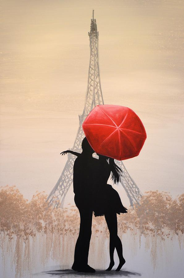 Love In Paris Painting By Amy Giacomelli