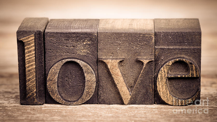 Love In Printing Blocks Photograph