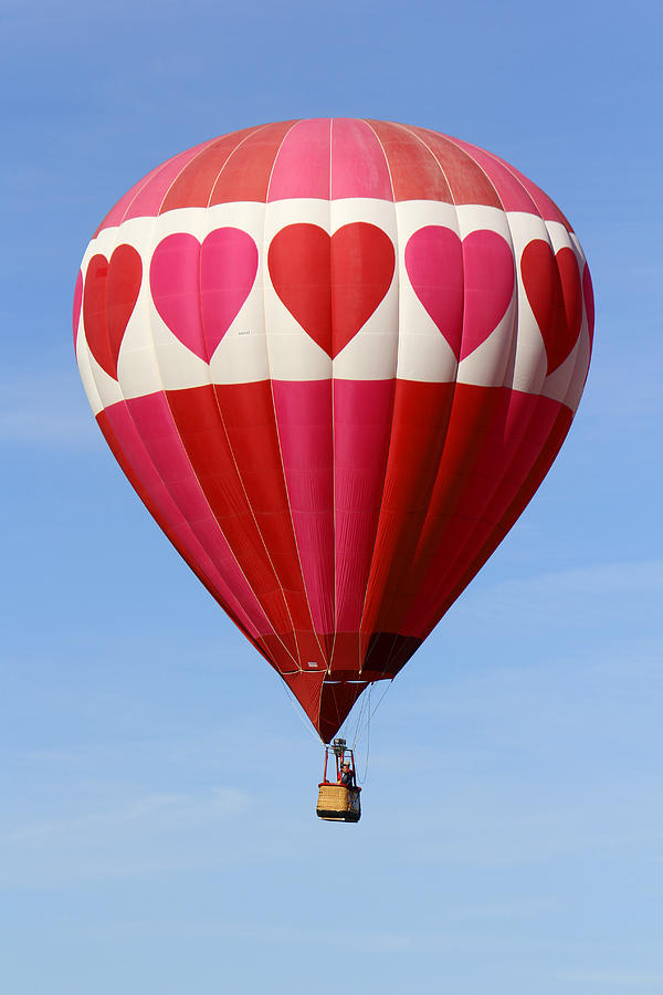 Balloon Fiesta Photograph - Love Is In The Air by Mike McGlothlen