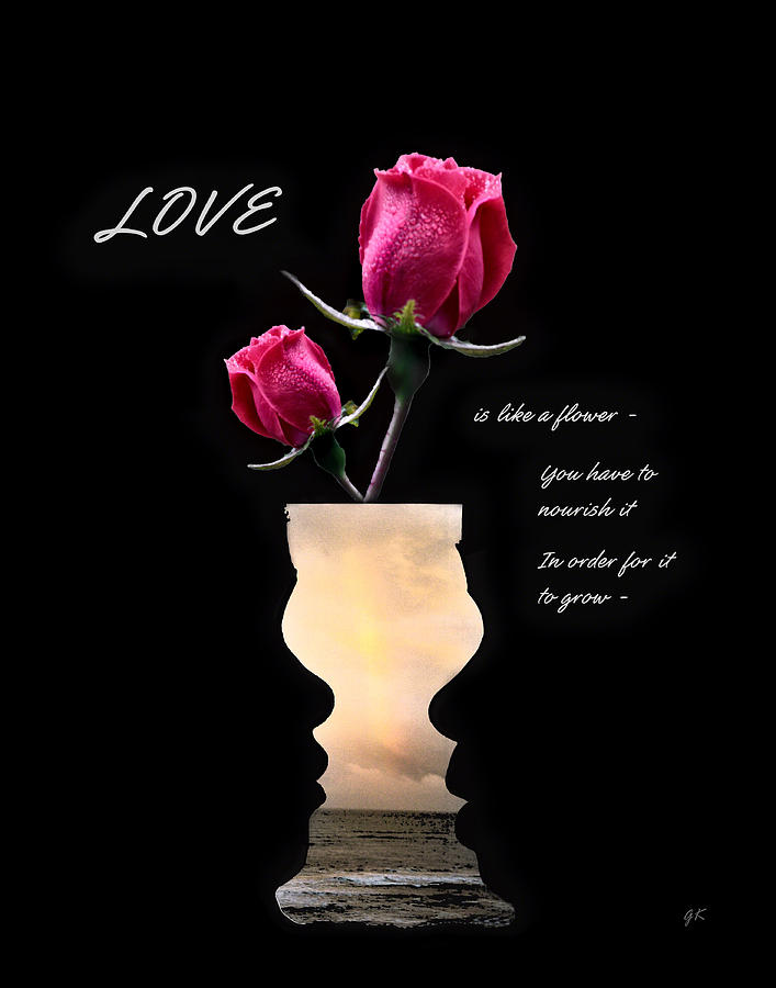 Love Is Like A Flower Photograph  - Love Is Like A Flower Fine Art Print