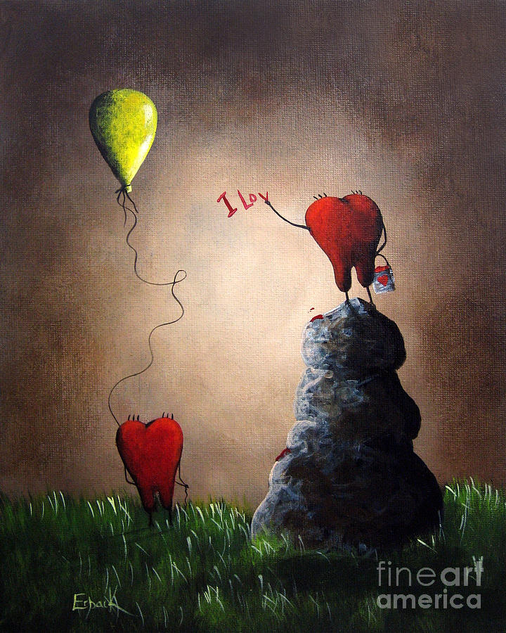 Love Painting - Love Is Playful By Shawna Erback by Shawna Erback