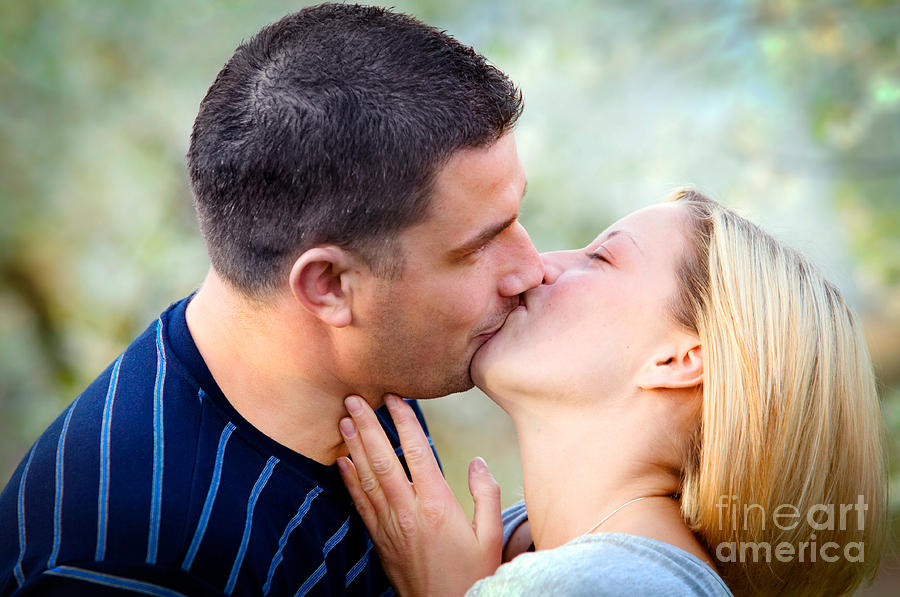 Love Kissing Couple Photograph  - Love Kissing Couple Fine Art Print
