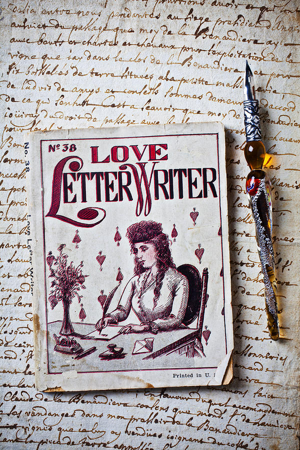 Love Letter Writer Book Photograph  - Love Letter Writer Book Fine Art Print