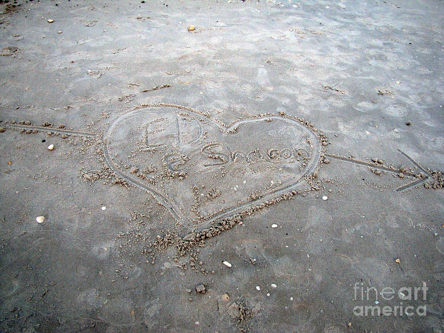 Beach Photograph - Love Letters In The Sand by Sharon Burger