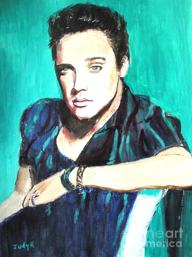 Elvis Painting - Love Me Tender   by Judy Kay