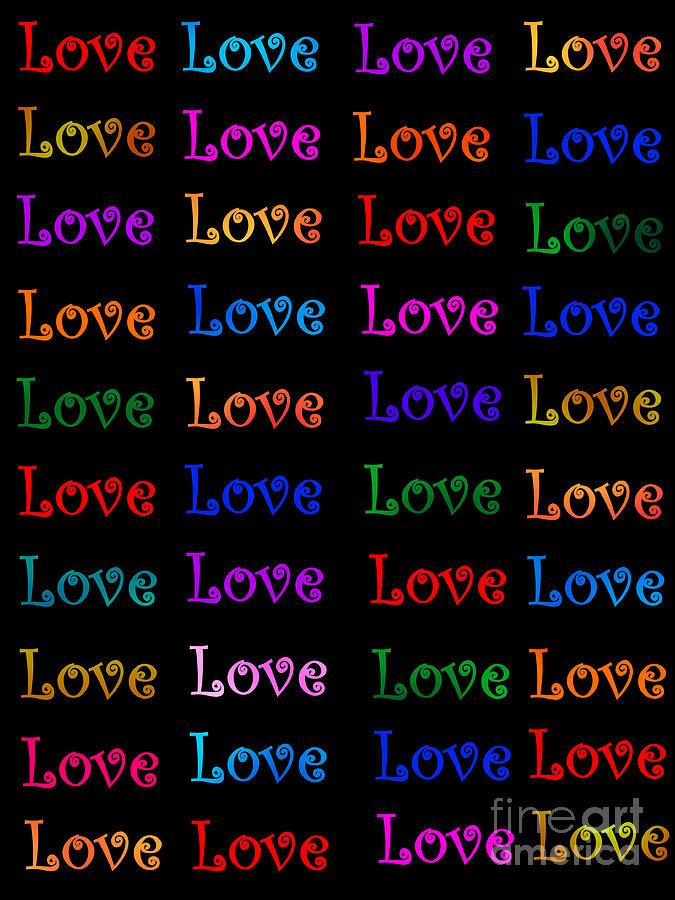 Symbol Of Love Painting - Love  by Nikunj Vasoya