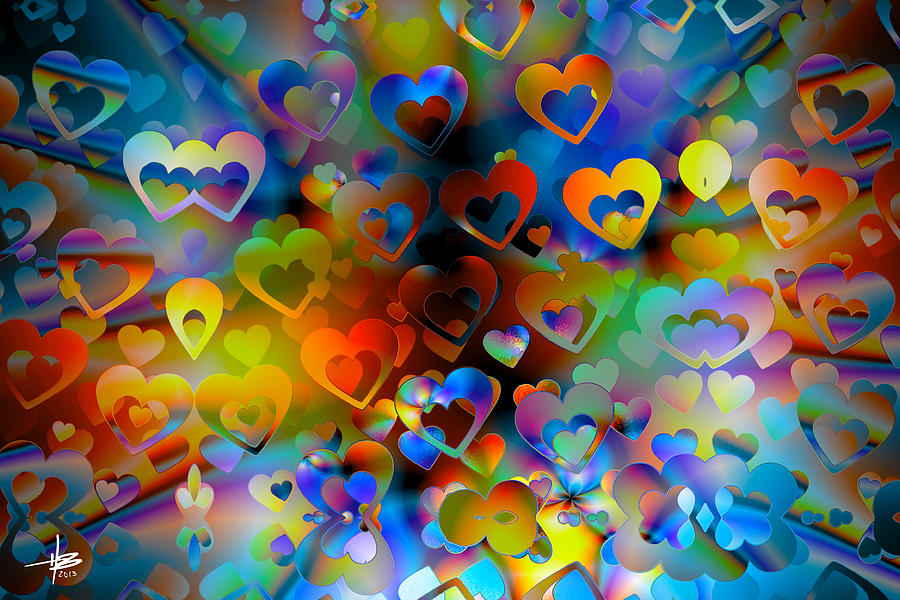Love Of The Crowd Digital Art  - Love Of The Crowd Fine Art Print