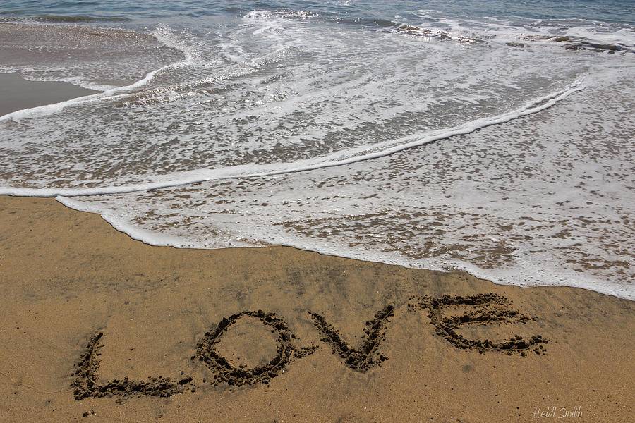 Love On The Beach Photograph  - Love On The Beach Fine Art Print