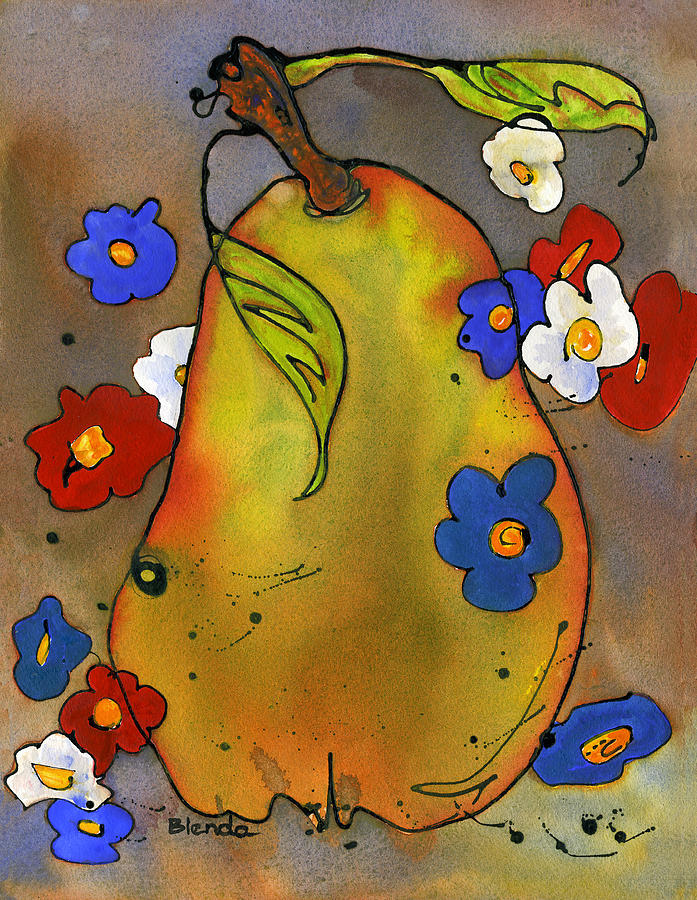 Love Pear  Painting  - Love Pear  Fine Art Print
