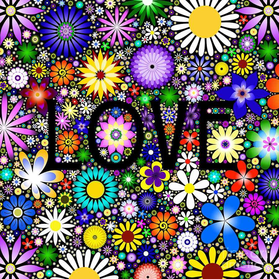 Love The Flowers Digital Art